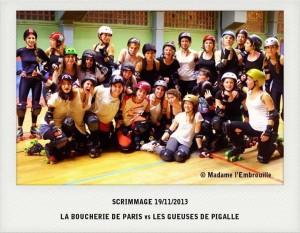 Scrimmage du 19/11/2013 Boucherie de Paris & Gueuses de Pigalle (c) Madame l'embrouille